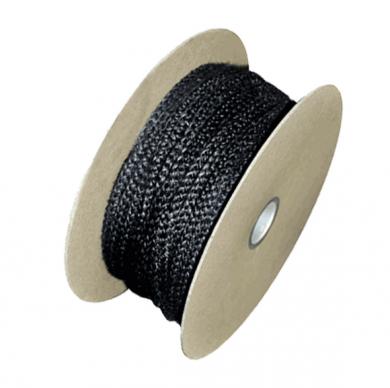 Огнеупорно черно въже за уплътнение на вратички за камини, печки и котли и други от Ø 6 - Ø 22 мм
