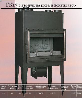 Gerkand 13 с вграден вентилатор 15 kW /250 м³/