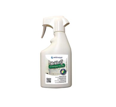 Mold Off от Bellinzoni е концентриран почистващ препарат за премахване на плесен, мухъл, водорасли, мускус и други