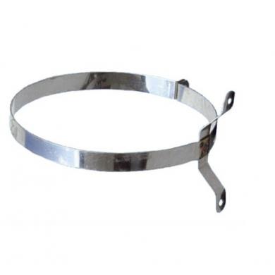 Обикновени скоби от неръждаема стомана за закрепване на димоотводни, вентилационни и други тръби и елементи към стена